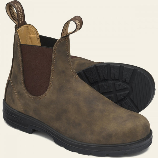 Blundstone Classic #585 Chelsea Boots in Rustic Brown