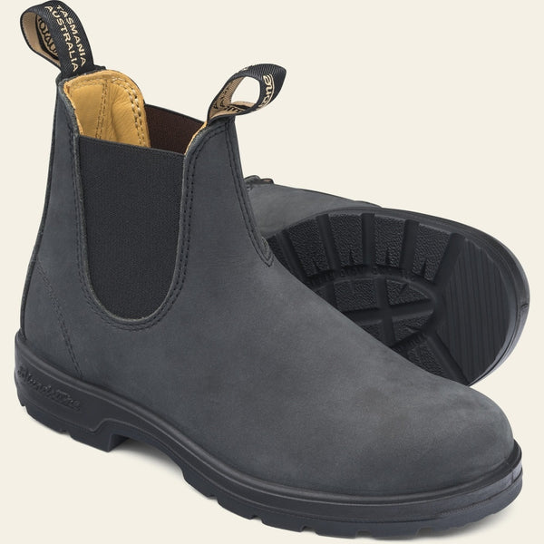 Blundstone Classic #587 Chelsea Boots in Rustic Black
