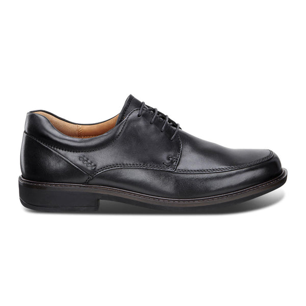Ecco Men's Holton Apron Toe Tie in Black Santiago