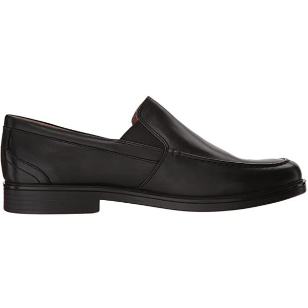 CLARKS MEN'S UN ALDRIC SLIP-ON IN BLACK LEATHER