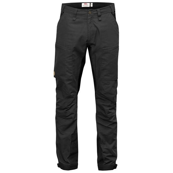 FJALLRAVEN MEN'S ABISKO LITE TREKKING TROUSERS IN DARK GREY