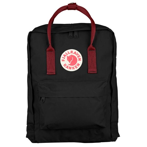 FJALLRAVEN CLASSIC KANKEN BACKPACK IN BLACK-OX RED