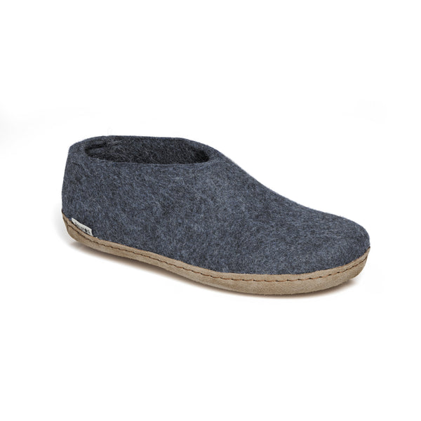 GLERUPS MEN'S THE SHOE WITH LEATHER SOLE IN DENIM