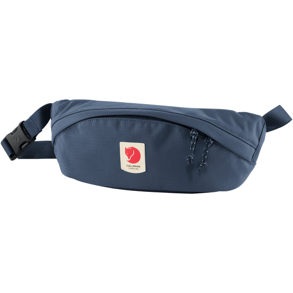 FJALLRAVEN ULVO HIP PACK MEDIUM IN MOUNTAIN BLUE