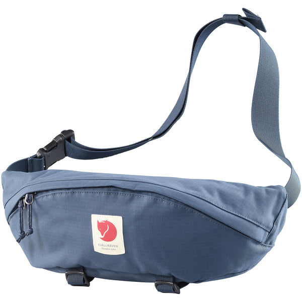 FJALLRAVEN ULVO HIP PACK LARGE IN MOUNTAIN BLUE
