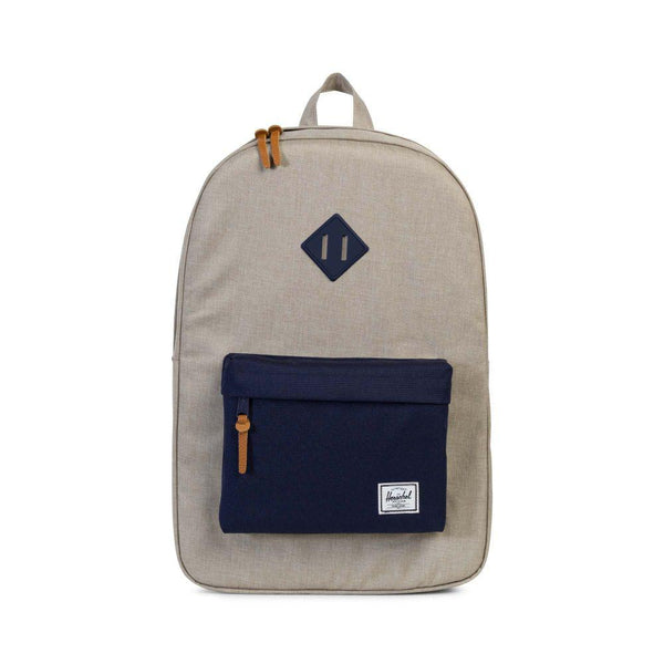HERSCHEL HERITAGE BACKPACK IN LIGHT KHAKI CROSSHATCH