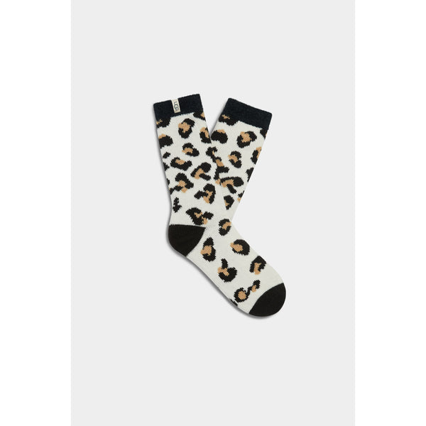 UGG WOMEN'S JOSEPHINE FLEECE LINED SOCK IN AMPHORA LEOPARD