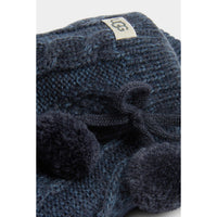 UGG WOMEN'S POM POM FLEECE LINED CREW SOCK IN NAVY