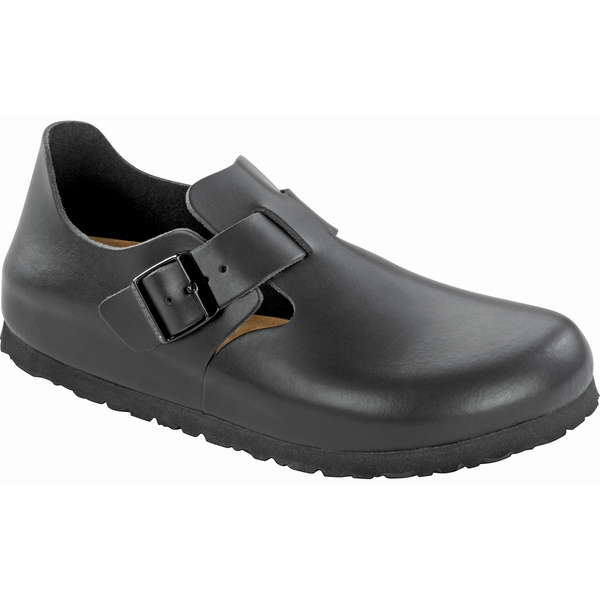Birkenstock London Soft Footbed Leather in Black