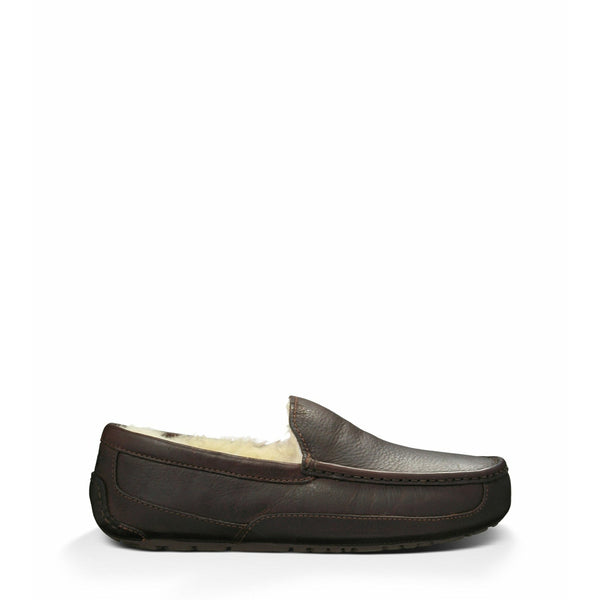 UGG Men's Ascot Leather Slipper in China Tea