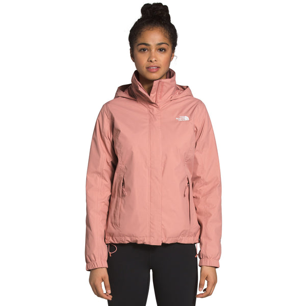 THE NORTH FACE WOMEN'S RESOLVE 2 JACKET IN PINK CLAY