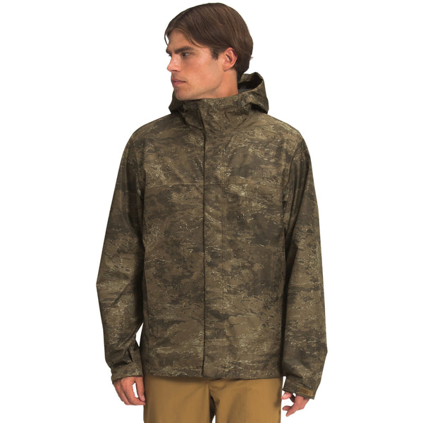 The North Face Men's Venture 2 Jacket in Military Olive Cloud Camo Wash Print