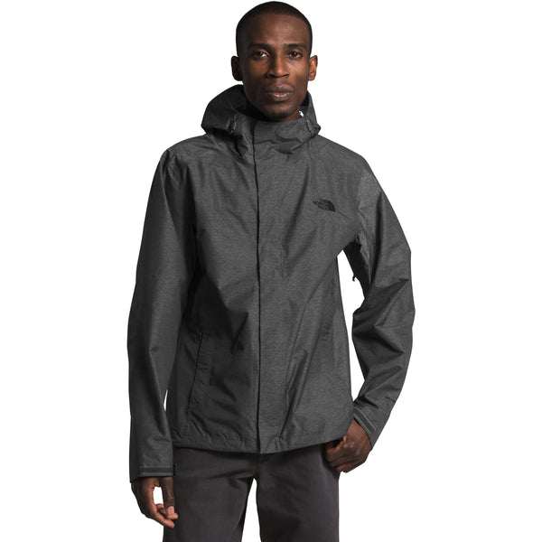 THE NORTH FACE MEN'S VENTURE 2 JACKET IN TNF DARK GREY HEATHER/TNF BLACK