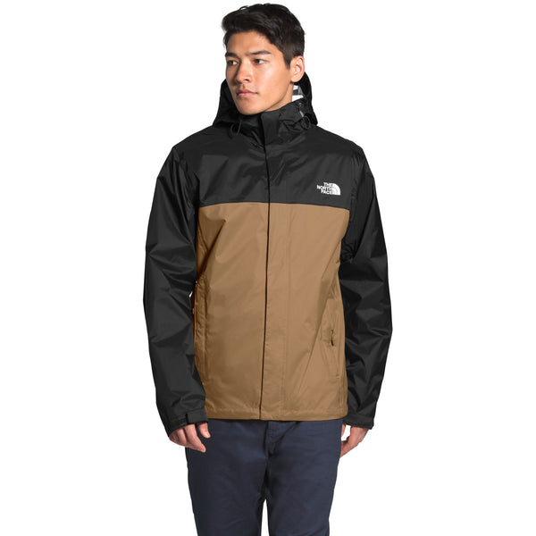 THE NORTH FACE MEN'S VENTURE 2 JACKET IN UTILITY BROWN/TNF BLACK