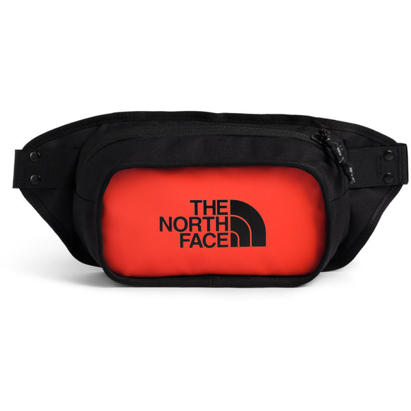 THE NORTH FACE EXPLORE HIP PACK IN FLARE/TNF BLACK