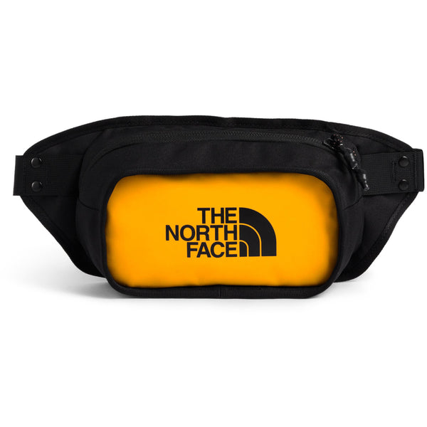 THE NORTH FACE EXPLORE HIP PACK IN SUMMIT GOLD/TNF BLACK