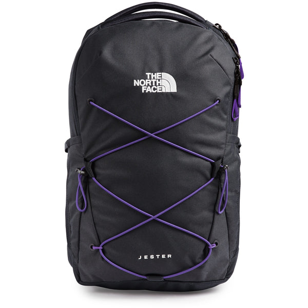 THE NORTH FACE WOMEN'S JESTER BACKPACK IN ASPHALT GREY/PEAK PURPLE