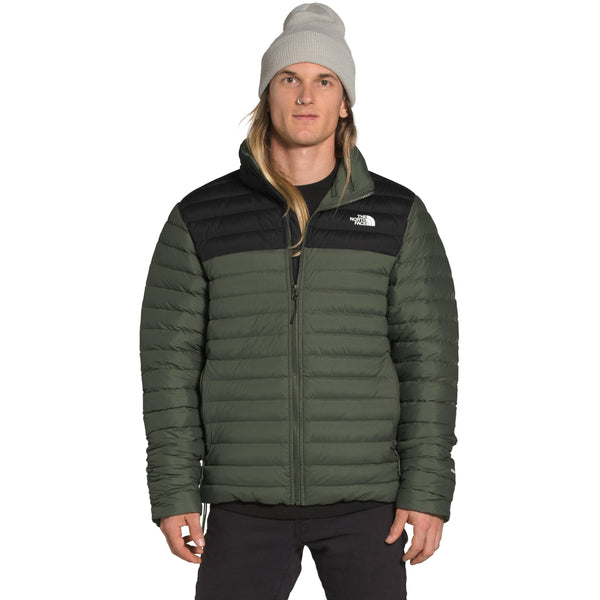THE NORTH FACE MEN'S STRETCH DOWN JACKET IN NEW TAUPE GREEN/TNF BLACK