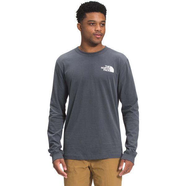 The North Face Men's L/S Box NSE Tee In Vandis Grey