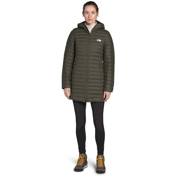 THE NORTH FACE WOMEN'S STRETCH DOWN PARKA IN NEW TAUPE GREEN