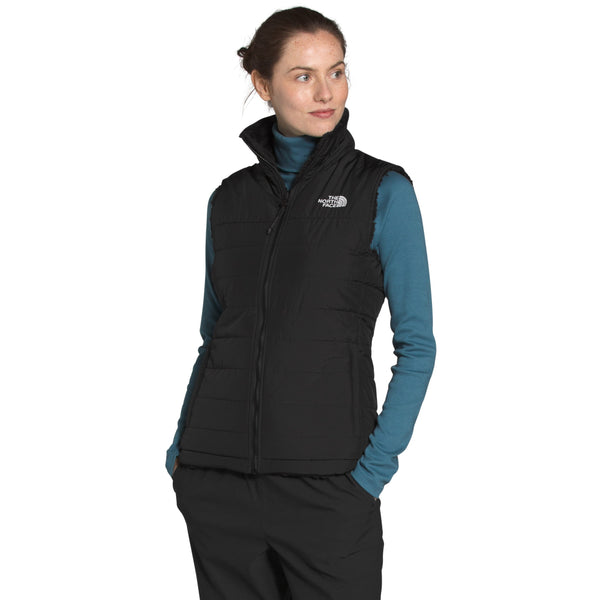 THE NORTH FACE WOMEN'S MOSSBUD INSULATED REVERSIBLE VEST IN TNF BLACK