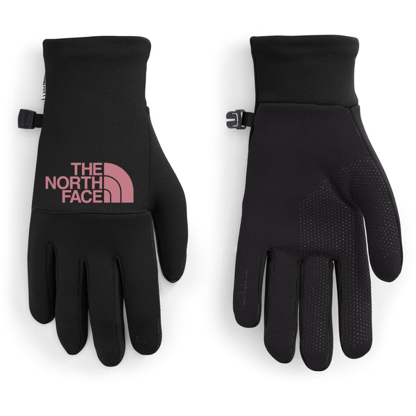THE NORTH FACE WOMEN'S ETIP RECYCLED GLOVE IN TNF BLACK/MESA ROSE
