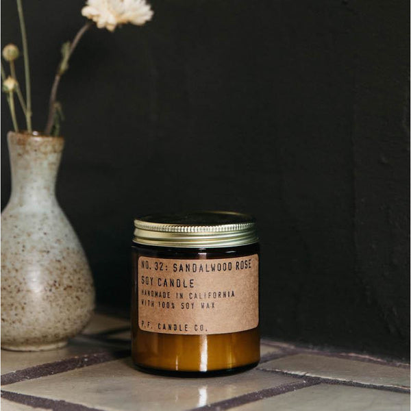 P. F. CANDLE CO. 3.5 OZ STANDARD SOY CANDLE - SANDALWOOD ROSE