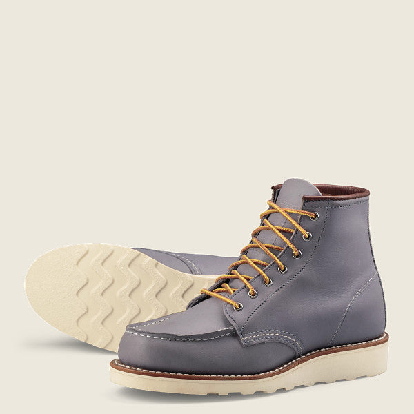 "RED WING WOMEN'S CLASSIC MOC 6"" SHORT BOOT IN GRANITE BOUNDARY LEATHER"
