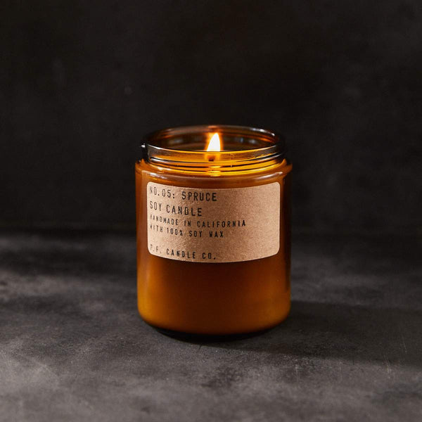 P. F. CANDLE CO. 7.2 OZ STANDARD SOY CANDLE - SPRUCE