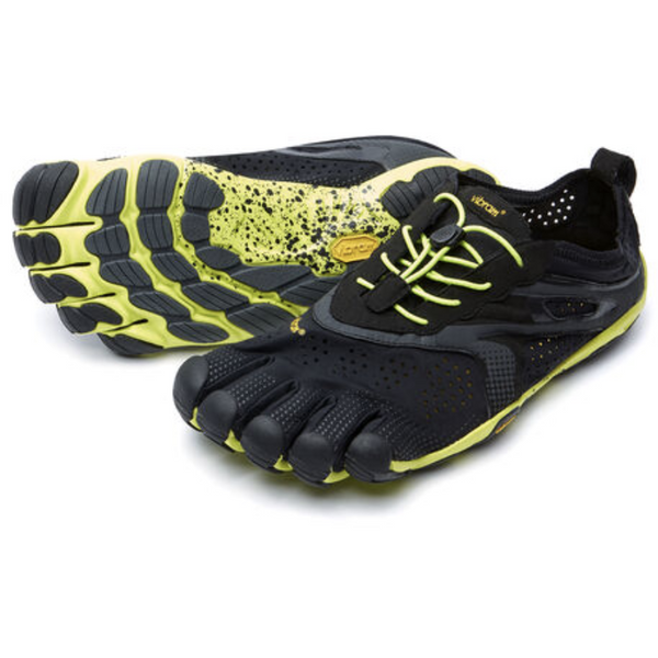 VIBRAM MEN'S V-RUN IN BLACK YELLOW