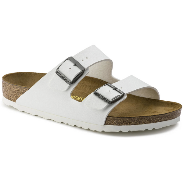 Birkenstock Arizona Birko-Flor Classic Footbed Sandal in White