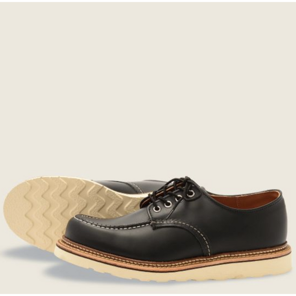 RED WING MEN'S CLASSIC OXFORD IN BLACK CHROME LEATHER