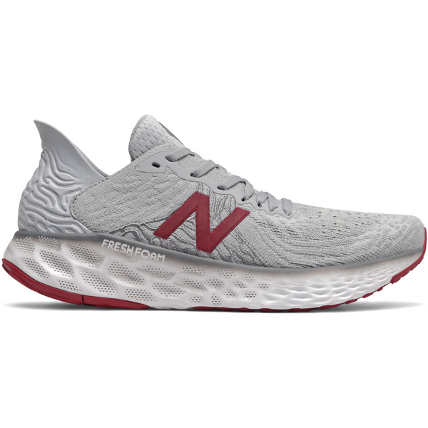 NEW BALANCE MEN'S FRESH FOAM 1080V10 IN SUMMER FOG CRIMSON WHITE