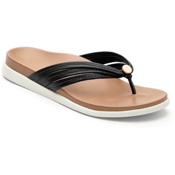 VIONIC WOMEN'S PALM CATALINA TOE-POST SANDAL IN BLACK