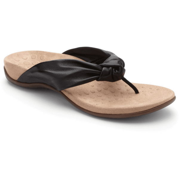 VIONIC WOMEN'S REST PIPPA TOE-POST SANDAL IN BLACK