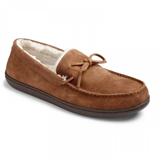 VIONIC MEN'S IRVING ADLER SLIPPER IN CHESTNUT