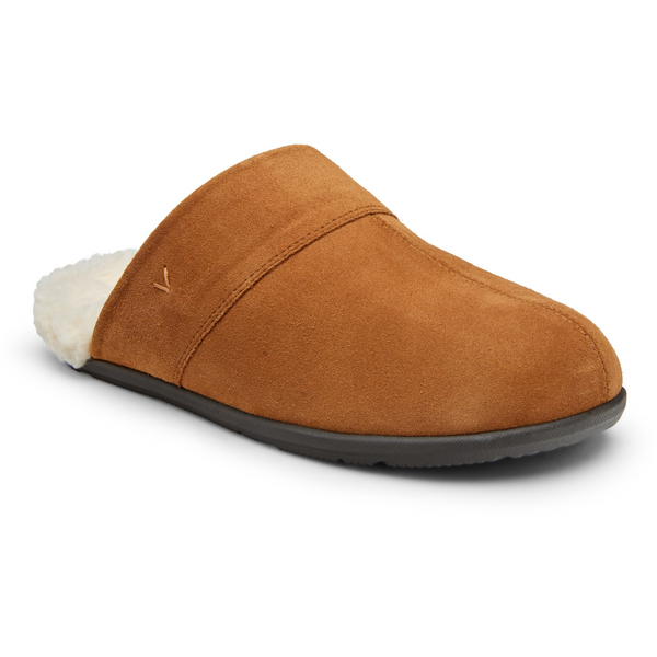VIONIC MEN'S BRIDGES ALFONS MULE SLIPPER IN TOFFEE