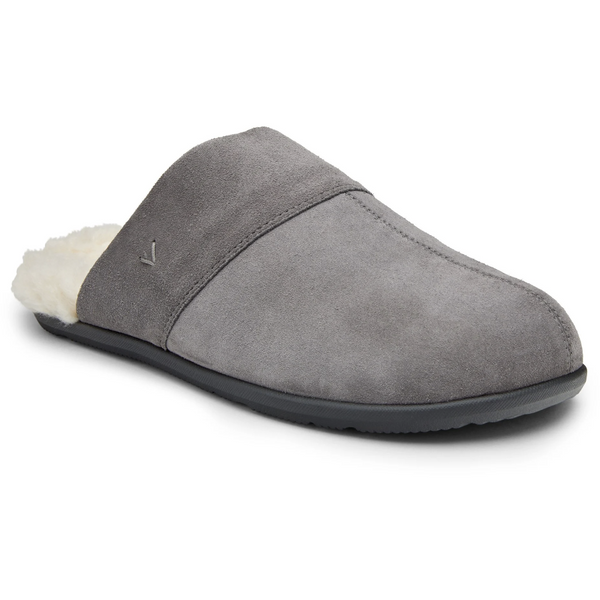 VIONIC MEN'S BRIDGES ALFONS MULE SLIPPER IN CHARCOAL