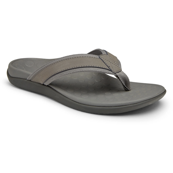 VIONIC MEN'S TIDE TOE-POST SANDAL IN CHARCOAL