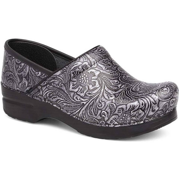 Dansko Women's Professional Clog in Grey Tooled