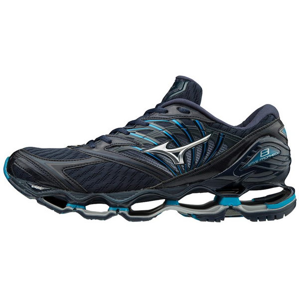 MIZUNO MEN'S WAVE PROPHECY 8 IN BLUE WING TEAL SILVER