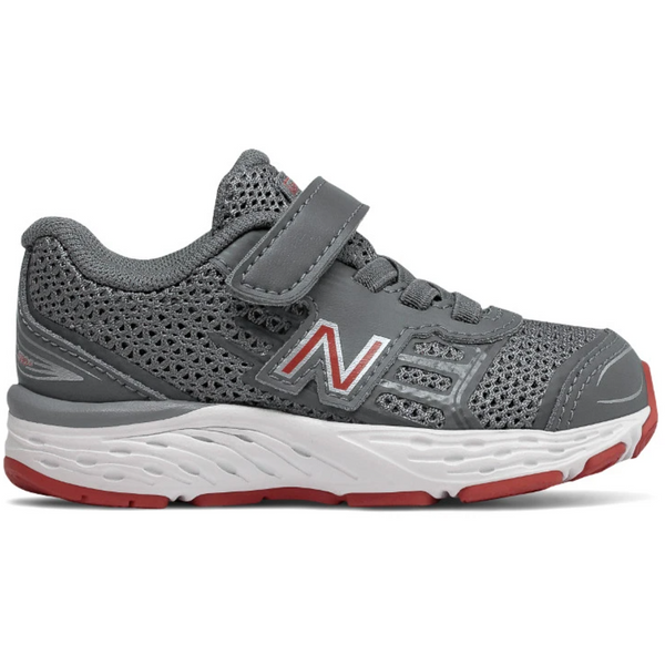 NEW BALANCE TODDLERS 680V5 VELCRO IN STEEL RED