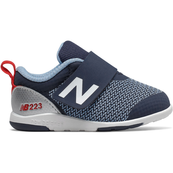 NEW BALANCE TODDLERS IO223NVR IN NAVY WITH RED