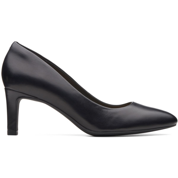 CLARKS WOMEN'S CALLA ROSE HEEL IN BLACK