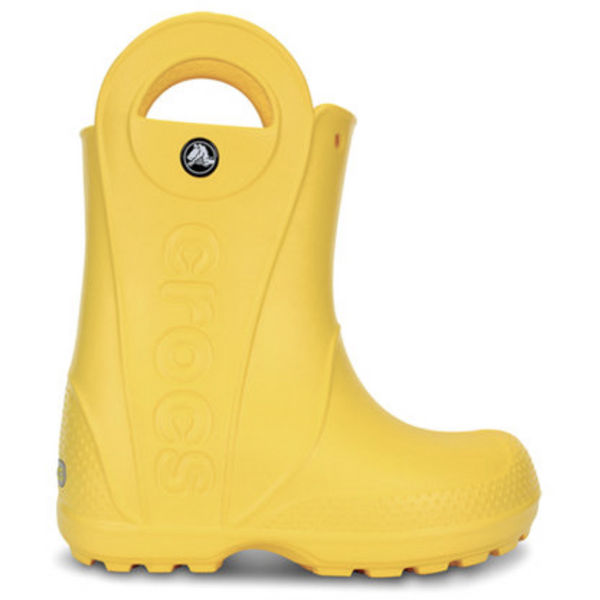CROCS KIDS HANDLE IT RAIN BOOT IN YELLOW