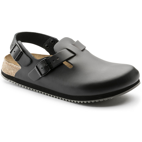 BIRKENSTOCK WOMEN'S TOKIO SUPER GRIP CLASSIC FOOTBED IN BLACK