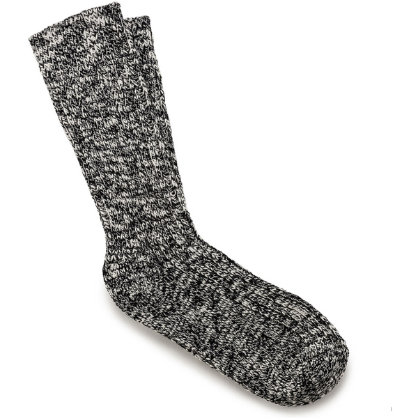 Birkenstock Women's Cotton Slub Socks in Black Gray