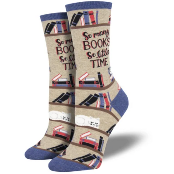 "SOCK SMITH BALL NO BS - ""TIME FOR A GOOD BOOK"" SOCKS"