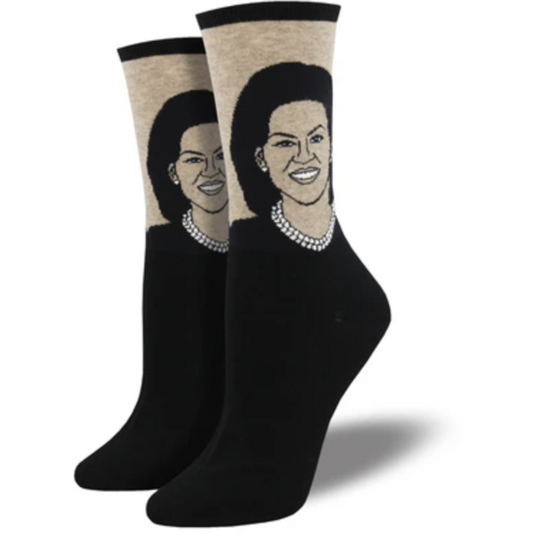 "SOCK SMITH BALL NO BS - ""MICHELLE OBAMA"" SOCKS"