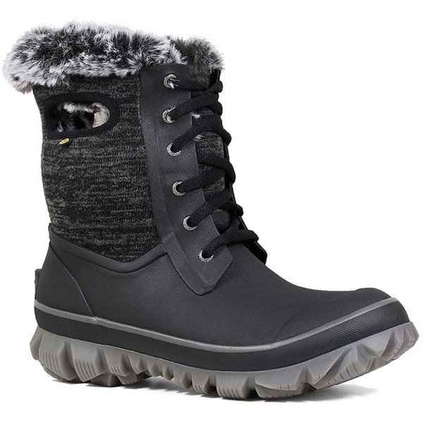 BOGS WOMEN'S ARCATA KNIT WINTER BOOT IN BLACK MULTI